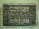 10 Mark / Marci 1920 GERMANIA - Lot de 2 Bucati / 1