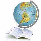 Cumpara ieftin Glob pamantesc ZooGlobe, harta fizica-zoologica, diametru 22 cm, carte 275 animale