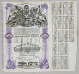 SOCIETATEA COMUNALA A TRAMVAIELOR DIN BUCURESTI , CERTIFICAT NOMINATIV DE DOUAZECI ACTIUNI , EMIS IN 1946