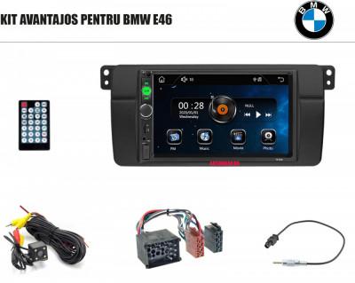 [KIT] MP5 Player pentru BMW E46, WinCE, Bluetooth, USB, CardSD, Camera Marsarier, Auxiliar, Mirrorlink, Touchscreen - AD-BGPBMWE467010B foto
