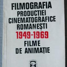 Filmografia producției cinematografice românești (1949-1969). Filme de animație