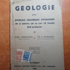 manual de geologie pentru clasele secundare din anul 1919-harta romaniei mari