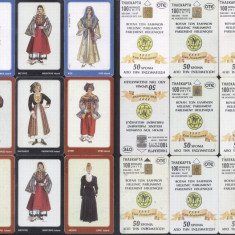 Greece 1997 OTE 9 Telephone cards Costumes CT.001
