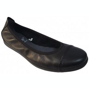 Balerini din piele Jana 8-8-22105-22 001 black