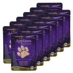 Pliculeț APPLAWS Cat, pui și orez sălbatic 12 x 70g