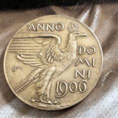 MEDALIE - MONEDA VECHE ARGINT 1906 ANNO DOMINI - TEMATICA VANATOARE
