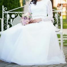 Vând rochie de mireasă, XS/S, Alb