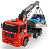 Cumpara ieftin Camion de tractare Dickie Toys MAN Air Pump Crane Truck cu 1 masinuta