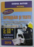 INTREBARI SI TESTE PENTRU OBTINEREA PERMISULUI DE CONDUCERE AUTO CATEGORIILE C, CE , D si DE, CAMIOANE SI AUTOBUZE , 2019