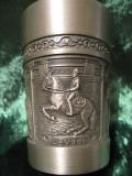 PAHAR VIN - PAHAR DIN ZINC DECOR CU CAI, Ornamentale