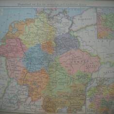HOPCT DOCUMENT-HARTA VECHE NR 35 GERMANIA ERA SAXONA D=320/250 MM LEIPZIG 1918
