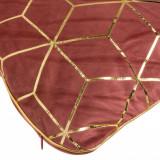 Perna decorativa, model bordeaux catifea, 42×42 cm