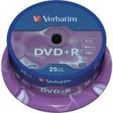 "DVD+R VERBATIM 4.7GB 120min viteza 16x 25 buc Single Layer spindle ""Matt Silver"" ""43500"""