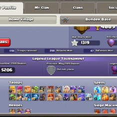 Clash of clans th 12 max, level 200