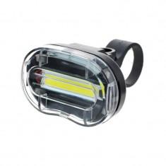 Far LED pentru bicicleta 0.5W, 3 moduri iluminare, alimentare baterii AAA