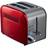Cumpara ieftin Prăjitor de pâine Heinner, 850 W, 7 nivele de rumenire, 3 funcții, Roșu/Inox