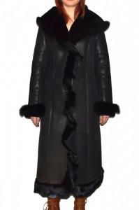 Cojoc dama, din blana naturala, Kurban, 2017-01-95, negru