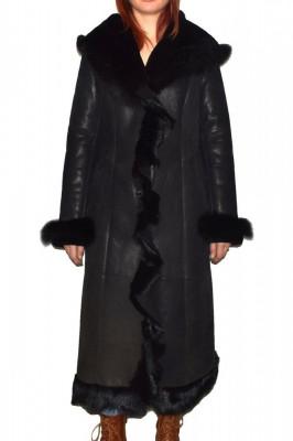 Cojoc dama, din blana naturala, Kurban, 2017-01-95, negru foto