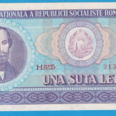 (13) BANCNOTA ROMANIA - 100 LEI 1966, PORTRET NICOLAE BALCESCU.STARE FOARTE BUNA