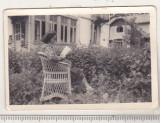 Bnk foto - Casa in Busteni - anii `40 - Foto-film D Hasoti Busteni, Alb-Negru, Cladiri, Romania 1900 - 1950