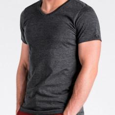 Tricou slim fit barbati S1041 negru