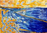 "Tablou, Silvia Marinescu, ""Marina"", ulei pe pânză, 50 x70 cm"