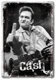 Placa metalica - Johnny Cash - 10x14 cm