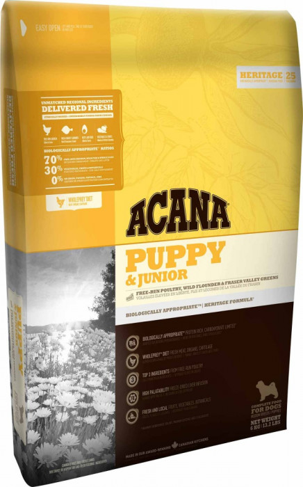 Acana Puppy Junior Medium 17 kg + recompense Tail Swingers 100 g