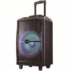 Boxa portabila akai abts-h12l 40w microfon wireless bluetooth radio fm