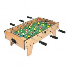 Masa Joc de Foosbal Mini Fotbal cu 18 Jucatori si 2 Mingi, Dimensiuni 69x37cm