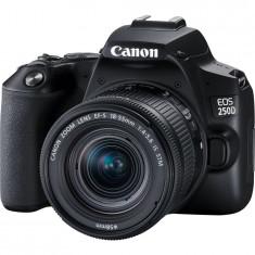 Aparat foto DSLR Canon EOS 250D, 24.1 MP, Wi-Fi, Negru + Obiectiv EF-S 18-55mm, f/4-5.6 IS STM