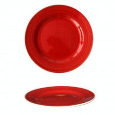 Farfurie ceramica, 19cm, rosie, Keramik, 0121115,
