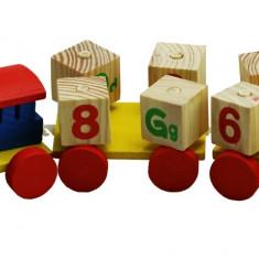Trenulet Cubico ABC lemn