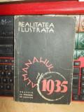 REALITATEA ILUSTRATA : ALMANAHUL PE 1935