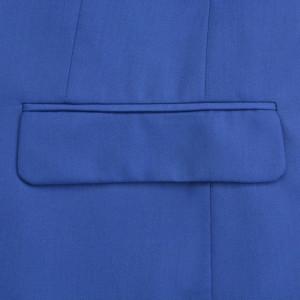 Costum bărbătesc, mărime 46, albastru regal, 2 piese
