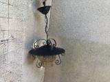 Candelabru,lustra,lampa rustica germana pendul de tavan  fier forjat