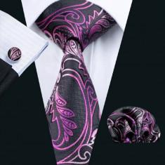 Set cravata matase butoni batista model A+ cutie cadou