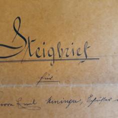 ACTE NOTARIALE VECHI 1913 - TIMBRU FISCAL - HARTIE CU FILIGRAM