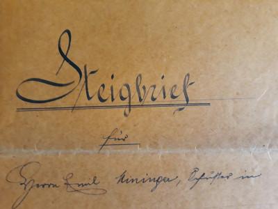 ACTE NOTARIALE VECHI 1913 - TIMBRU FISCAL - HARTIE CU FILIGRAM foto