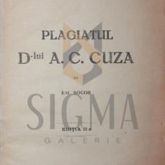 PLAGIATUL D LUI A C CUZA, 1923 - EM . SOCOR