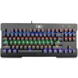 Tastatura gaming mecanica Redragon Visnu neagra iluminare rainbow