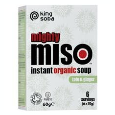 Supa Miso Instant cu Tofu si Ghimbir Bio 60gr King Cod: KS3009