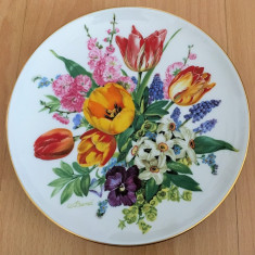 Farfurie - Ursula Band - Visul Florilor - Hutschenreuther - '87- Buchet de Paste