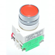 Intrerupator Push Motor LAY-7 Rosu
