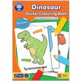 Carte de Colorat cu Activitati in Limba Engleza si Abtibilduri Dinozaur, orchard toys