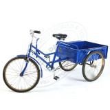Bicicleta cu lada pentru transport, triciclu