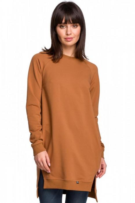 Tunica usor asimetrica, camel, cu buzunare