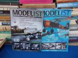 REVISTA MODELIST , MODELISM SI ISTORIE MILITARA , 2 NUMERE : 8 / 2014 + 7 / 2012