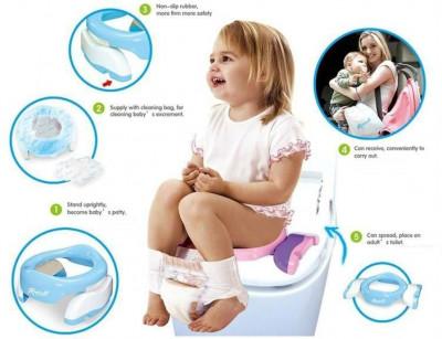 Toaleta portabila multifunctionala pentru copii foto