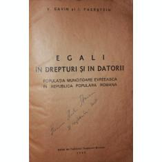 EGALI IN DREPTURI SI IN DATORII - V . SAVIN , I . FAERSTEIN